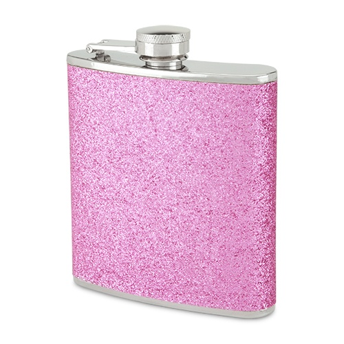 ON SALE! WAS $15.99, NOW $12.99 PINK SPARKLETINI GLITTER FLASK