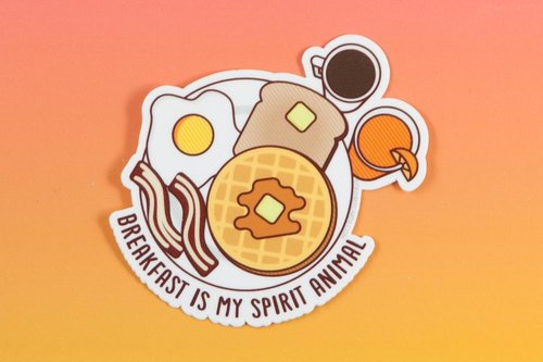 $2.99 BREAKFAST IS MY SPIRIT ANIMAL STICKER