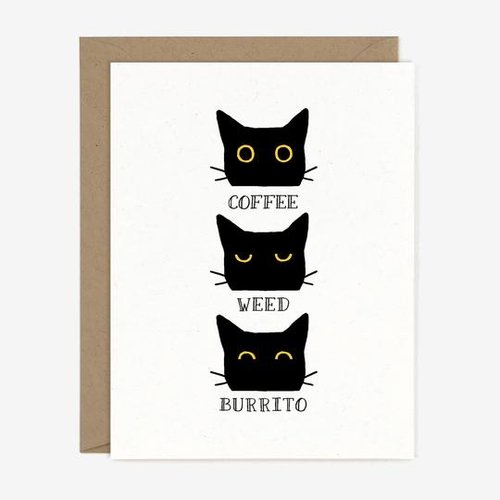 $4.49 COFFEE WEED BURRITO CAT CARD