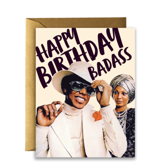 $4.99 HAPPY BIRTHDAY BADASS CARD