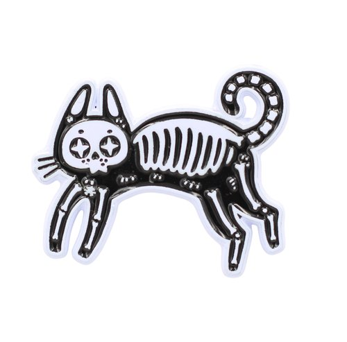 $9.95 SKELETON CAT PIN