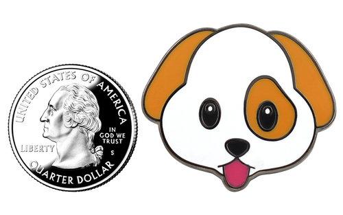 Local Notables Gift Shop — PUPPY EMOJI PIN