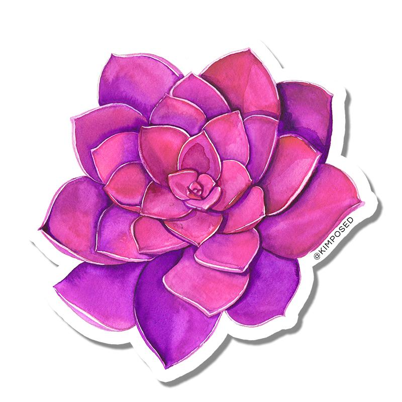 $1.99 PINK SUCCULENT STICKER