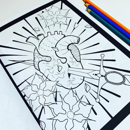 $19.99 TATTOO DESIGNS ADULT COLORING BOOK