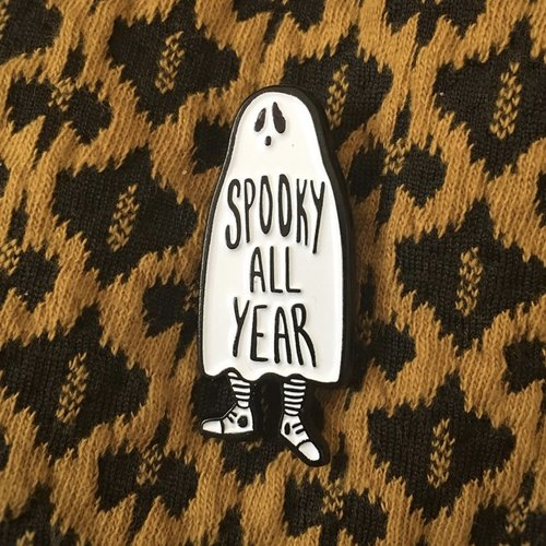 $11.99 SPOOKY ALL YEAR GHOST PIN