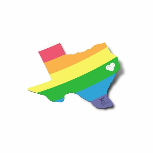 $3.99 TEXAS PRIDE RAINBOW STICKER