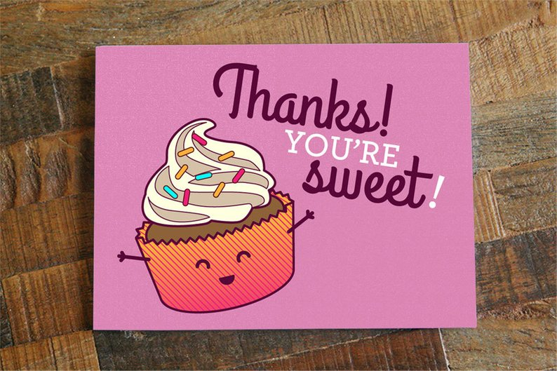 $4.49 THANKS YOU'RE SWEET CUPCAKE CARD