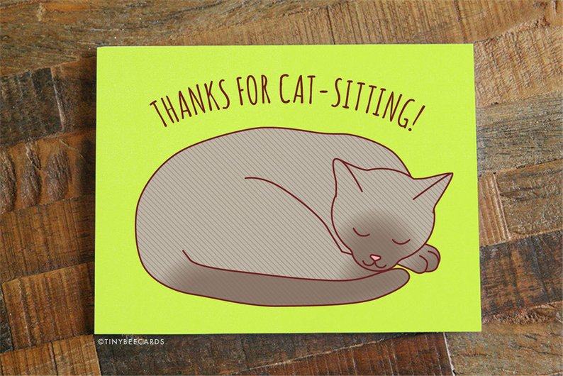 $4.49 THANKS FOR CAT SITTING CARD