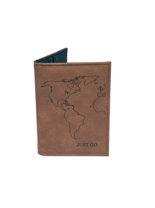 "$37.99 ""JUST GO"" VEGAN LEATHER PASSPORT WALLET"