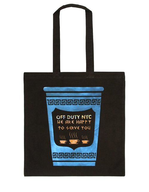 $39.99 HAPPY TO SERVE YOU GREEK COFFEE CUP TOTE BAG