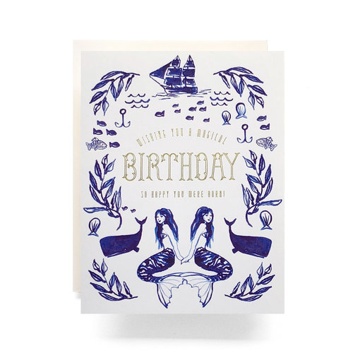 $4.99 MAGICAL MERMAID GOLD FOIL BIRTHDAY CARD