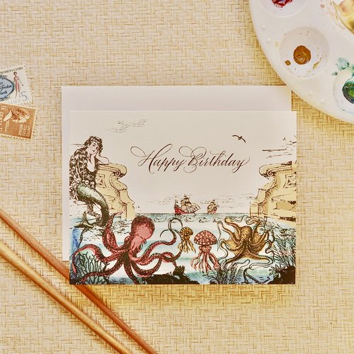 $4.99 SEA ODYSSEY BIRTHDAY CARD
