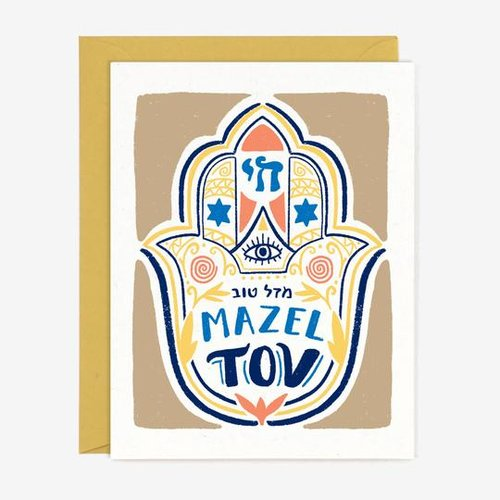$4.49 MAZEL TOV HAMSA CARD