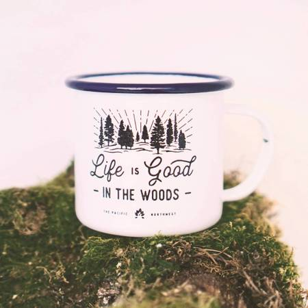 $15.99 LIFE IS GOOD IN THE WOODS MUG