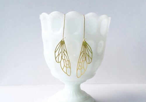 $21.99 INSECT WING EARRINGS