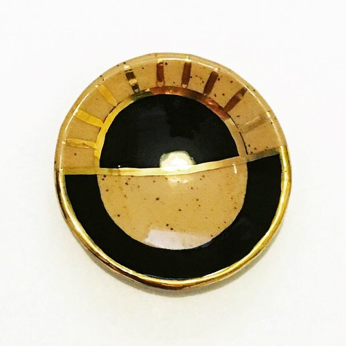 $24.99 BLACK & GOLD LUSTER SUNRAY JEWELRY DISH