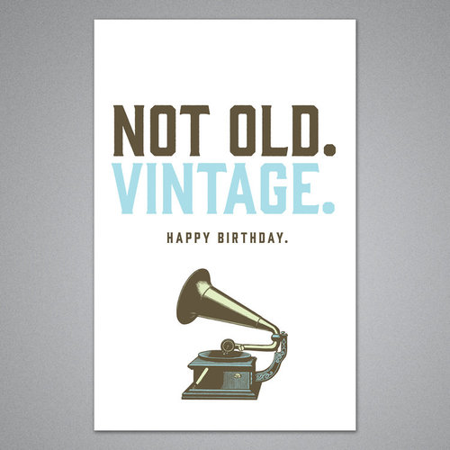 $3.99 NOT OLD, VINTAGE BIRTHDAY CARD