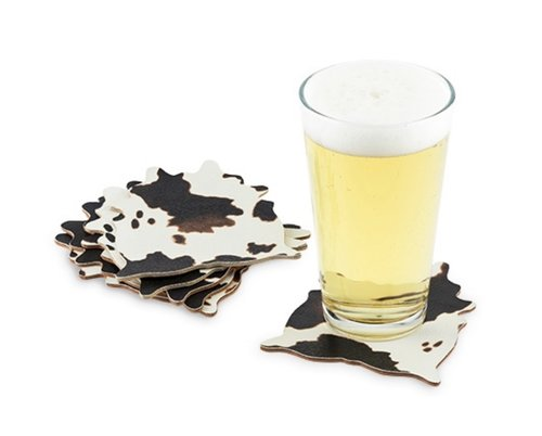 $21.99 COWHIDE COASTER SET