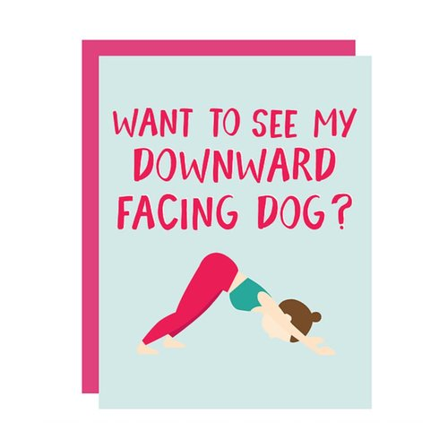 $3.99 DOWNWARD DOG YOGA CARD