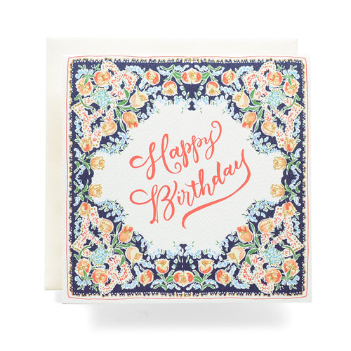$4.99 HAPPY BIRTHDAY HANDKERCHIEF CARD