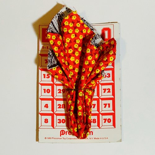 $23.99 RED FLORAL POCKET SQUARE