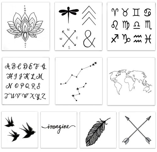 $11.99 INSPIRED TEMPORARY TATTOO PACK
