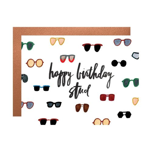 $4.99 HAPPY BIRTHDAY STUD SUNGLASSES CARD