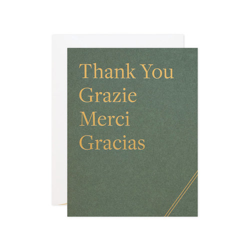 $4.99 FOREIGN LANGUAGE THANK YOU GOLD FOIL CARD