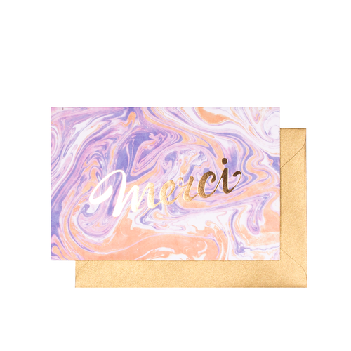 $4.99 MERCI GOLD FOIL THANK YOU CARD