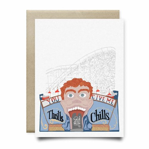 $4.99 YOU GIVE ME THRILLS & CHILLS ROLLERCOASTER CARD