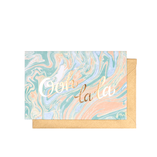 $4.99 OOH LA LA GOLD FOIL CARD