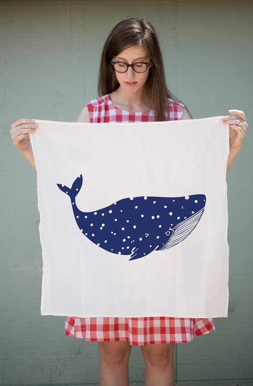 $17.99 WHALE KITCHEN TOWEL