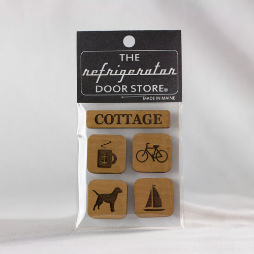 $9.99 COTTAGE WOOD MAGNET SET