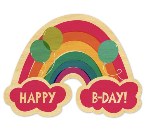 $5.99 RAINBOW BIRTHDAY CARD