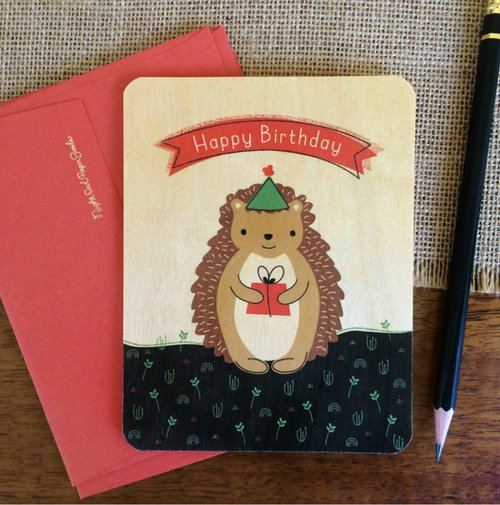 $5.99 HEDGEHOG BIRTHDAY CARD