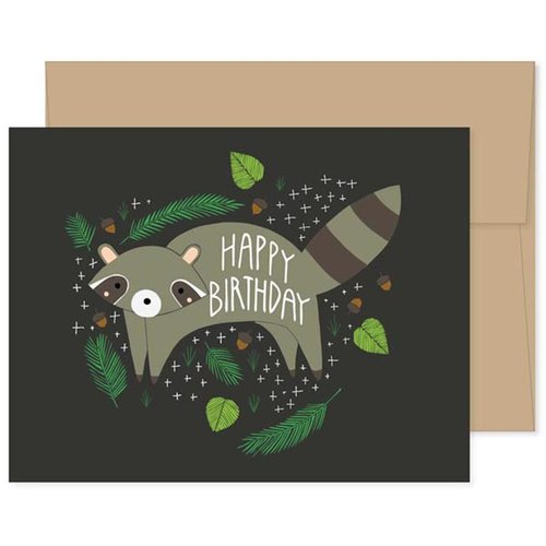 $4.49 BIRTHDAY RACCOON CARD