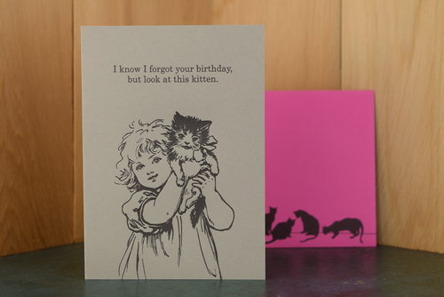 $4.99 FORGOT YOUR BIRTHDAY KITTEN CARD