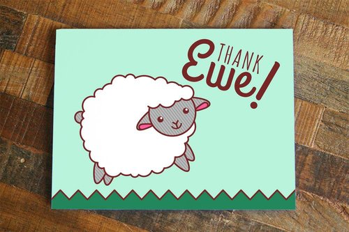 $4.49 THANK EWE SHEEP CARD