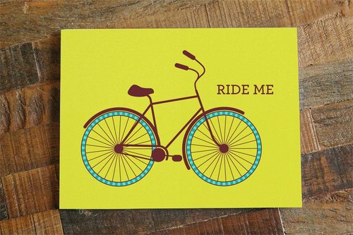 $4.49 RIDE ME BICYCLE CARD