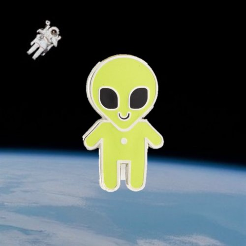 $9.99 ALIEN BABY GLOW IN THE DARK PIN
