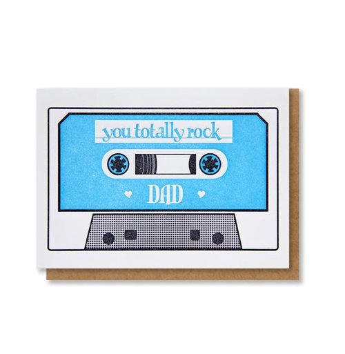 $4.49 YOU TOTALLY ROCK DAD CASSETTE TAPE CARD