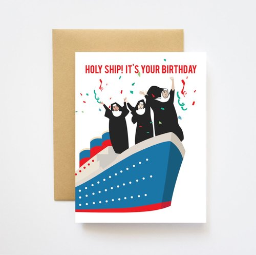 $4.99 HOLY SHIP BIRTHDAY CARD
