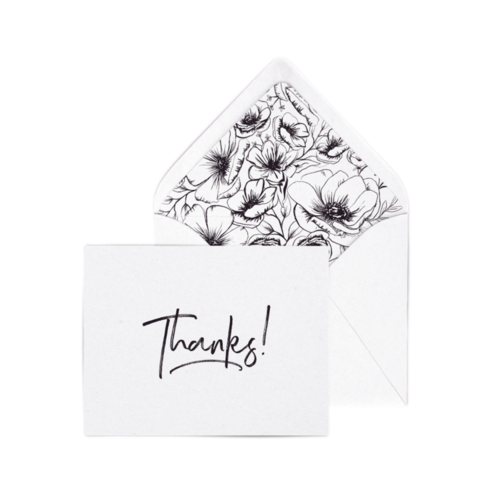 $4.99 THANKS! LETTERPRESS THANK YOU CARD