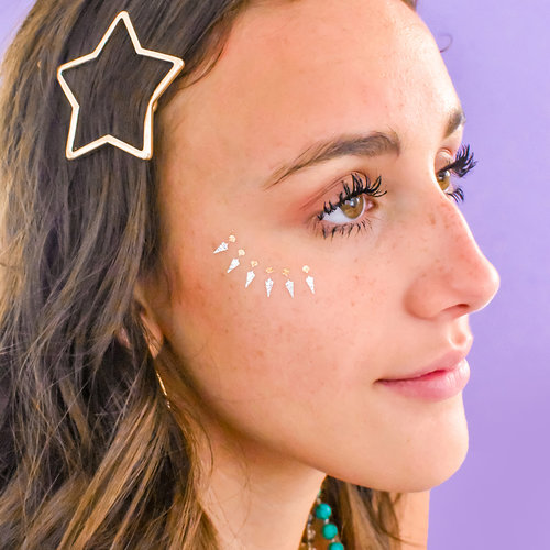 $19.99 FLASHY FACES VARIETY SET METALLIC TEMPORARY TATTOOS