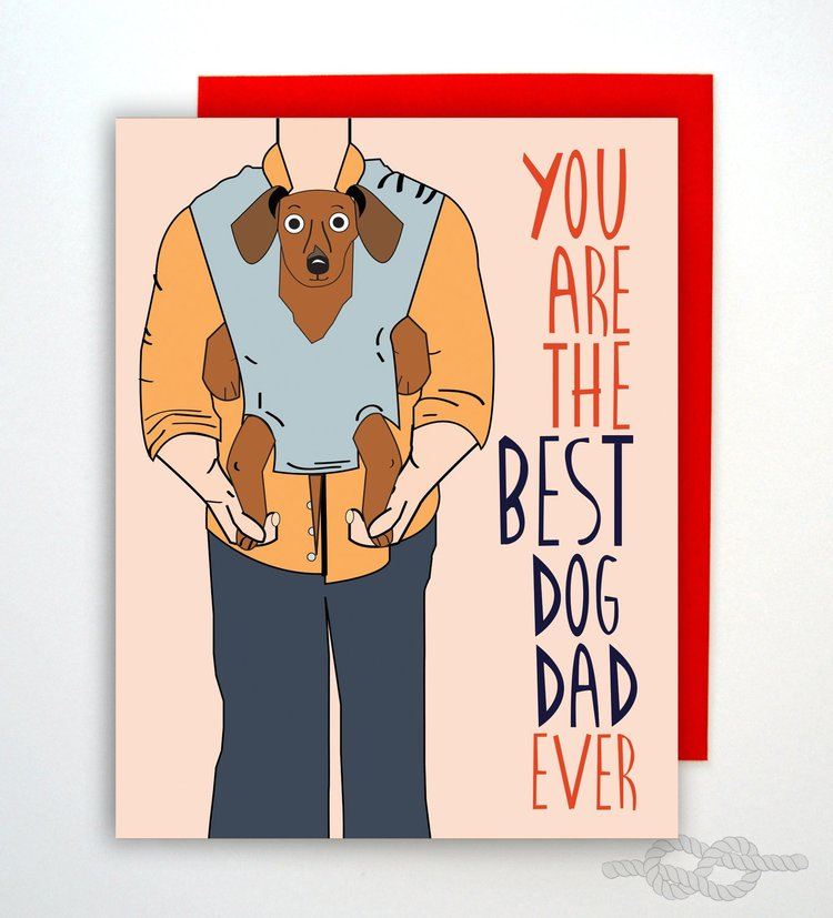 $4.49 BEST DOG DAD CARD