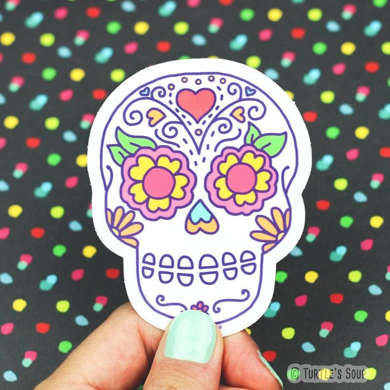 $3.49 SUGAR SKULL CALAVERA STICKER