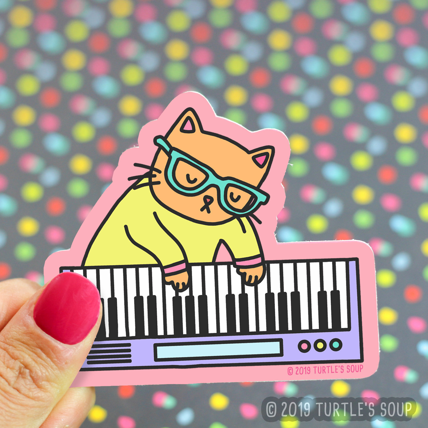 $3.49 KEYBOARD CAT STICKER