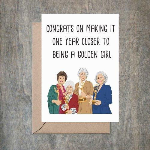 $4.49 GOLDEN GIRLS BIRTHDAY CARD