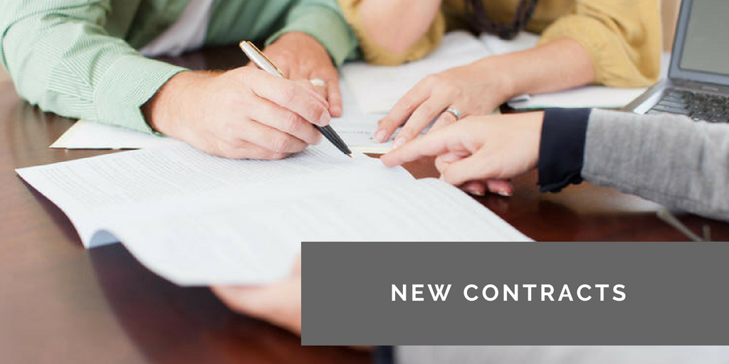 Submit a new contract -