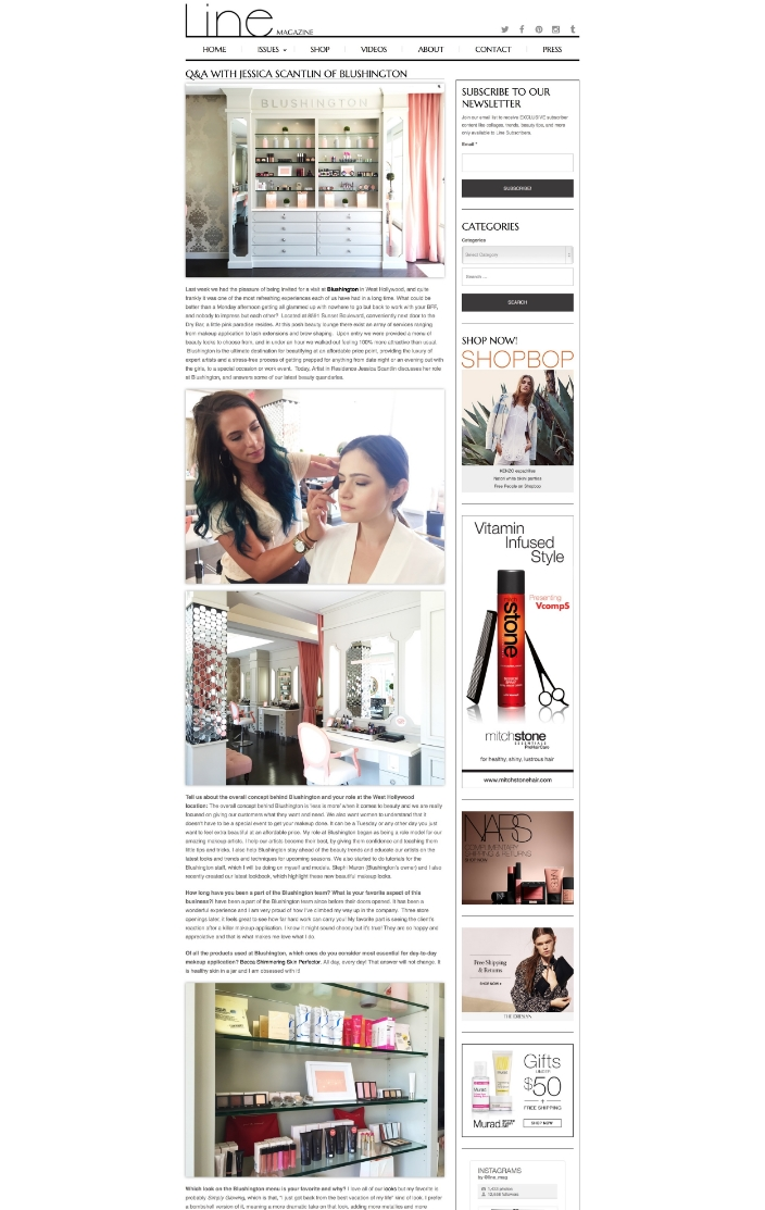 Q&A WITH JESSICA SCANTLIN OF BLUSHINGTON - Line Magazine | Online fashion, beauty and photography magazine. (20150905).jpg